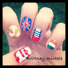 One direction nail art <3