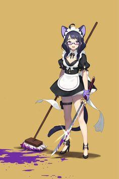 original Part 685 - - Anime Image Female Character Design, Character Concept, Character Art, Concept Art, Disney Pixar, Fantasy Characters, Anime Characters, Anna Cattish, Anime Maid