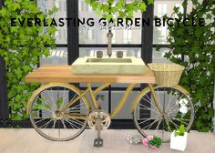 Sims 4 CC's - The Best: Garden Bicycle by Spellcasterr