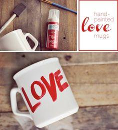 Love Mugs - Last Minute Valentines DIY with Martha Stewart Crafts paint