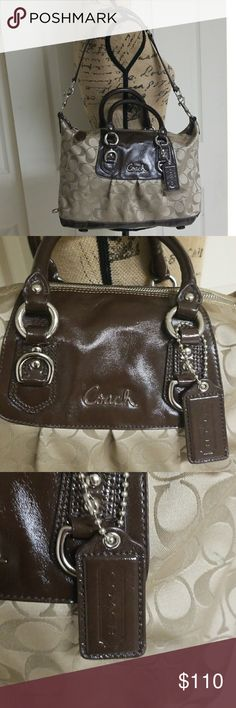 Coach Signature Satchel Excellent condition both inside and out   Brown and tan Coach Bags