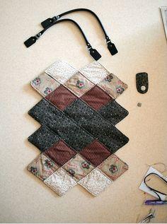 Quilted Bag Patchwork Purse Multicolor Tote. Простая в шитье сумка печворк. Фото-инструкция