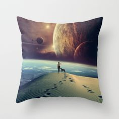 """Explorer"" Throw Pillow by POP. on Society6."