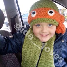 Heroes in a half shell hat as scarf