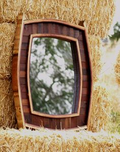 Old Path Wine Barrel Mirror by OldPathWoodcraft on Etsy