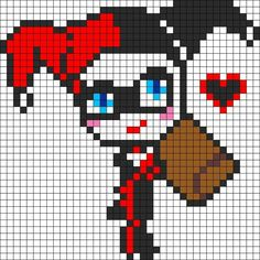 Harley Quinn perler template