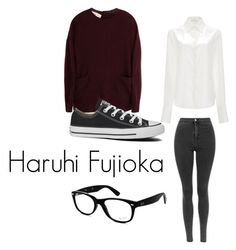 """Haruhi Fujioka ""OHSHC"" Cosplay"" by casualcosplayer on Polyvore featuring Tome, Marni, Converse and Ray-Ban"