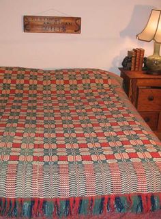 Overshot coverlet, early 19th century