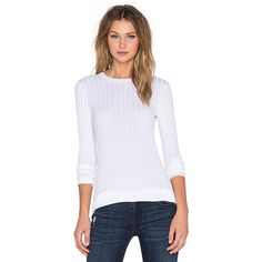 Enza Costa Cashmere Slim Long Sleeve Crew Neck Sweater (269 AUD) ❤ liked on Polyvore featuring tops, sweaters, sweaters & knits, cashmere crew neck sweater, slim fit sweater, crewneck sweater, cashmere sweater and slim sweaters