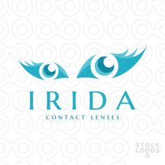Exclusive Customizable Logo For Sale: Irida Contact Lenses | StockLogos.com  #beauty #eye #eyes #iris #retina #optical #vision #lens #libs #eyelashes #lashes