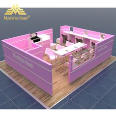 Source white pink high glossy nail kiosk nail table manicure table inside mall on m.alibaba.com