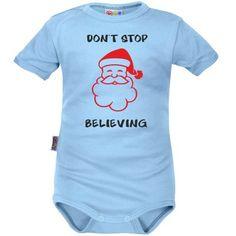 Body bébé Noël  : DON'T STOP BELIEVING (m. courtes ou longues)