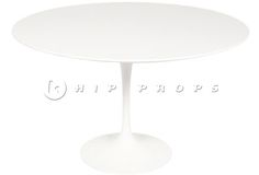 Tulip dining table designed by Eero Saarinen 1955. Available to hire from  http://www.hipprops.com/Saarinen,_Eero/Tulip_dining_table_medium