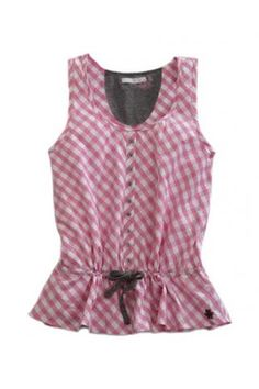 c1db016d909a6 Pink+Check+Tin+Haul+Collection+Sleeveless+Urban+ Ladies Western Shirts