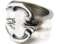 Spoon Ring Size 8 Signature With W Monogram by dankartistry