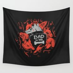 Bad To The Bone Wall Tapestry