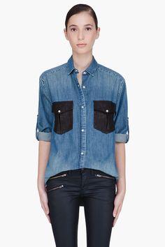 IRO Denim Shirt / Rag & Bone Waxed Jeans. I'll take one of each thanks.