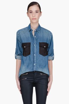 IRO Denim Shirt / Rag & Bone Waxed Jeans. I'll take one of each thanks.