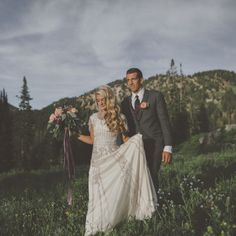 beaded modest wedding dress with soft skirt from alta moda bridal