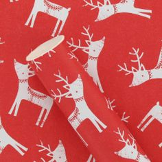 3m red white stags roll wrapping paper from Paperchase
