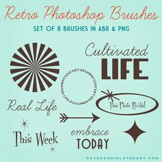 A Vegas Girl at Heart: ♥ Retro Project Life Brushes