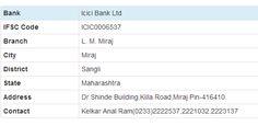 Icici Bank Ltd> Maharashtra> Miraj> L. M. Miraj http://www.mybankifsccode.com/ifsc-code/icici-bank-ltd/maharashtra/miraj/l-m-miraj
