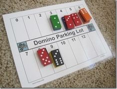 Math Centers -  This is an interesting way to use dominoes to develop number concepts in #math about combining sets.