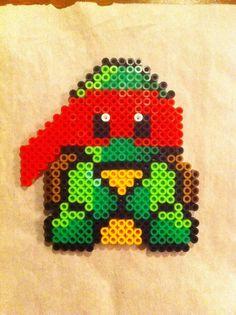 Ninja turtle perler bead craft!!!