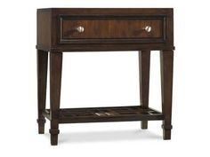 Shop for Hooker Furniture Ludlow Leg Nightstand, 1030-91116, and other Bedroom Nightstands at Room to Room in Tupelo, MS. With a metropolitan and modern attitude, Ludlow is distinguished by an intriguing walnut veneer story and hip fretwork detail.