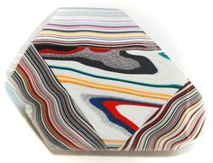 Button ~ Fordite, Laminated Together - Made By KPHoppe - Large by KPHoppe on Etsy