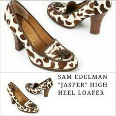 Sam Edelman Jasper  calf hair 7.5 Sam Edelman Jasper calf hair Brown/white pony print 7.5 M 4 inch wood heel Worn once, in original pkg Sam Edelman Shoes Heels