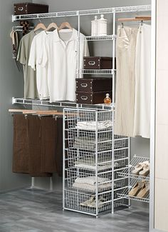 Wardrobe - separate wire drawers below.