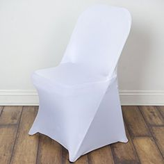 10 Pcs Spandex Folding CHAIR COVERS Wedding Supplies   White