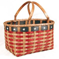 download pattern to weave your own patriot picnic basket...