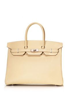 Shop Heritage Auctions Special Collections 35cm Parchment & Etoupe Epsom Leather Special Order Birkin at Moda Operandi