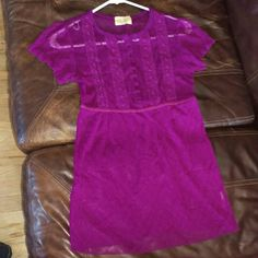 Gorgeous Free People Top Amazing purple see through blouse. 9 buttons featuring quality lace pattern. Great for work or a casual day. Size small FREE PEOPLE Free People Tops Blouses