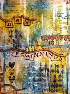 LuvLee Scrappin: Mixed Media Art Journal ~ New Beginnings