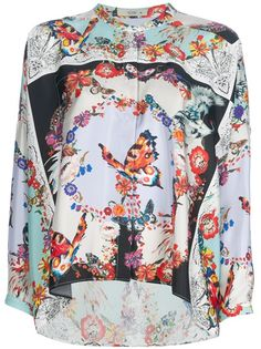 Etro Butterfly Print Blouse