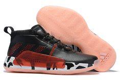 """655db10c 2019 adidas Dame 5 """"Damian Lillard"""" Black/Red-White Shoes Adidas Dame"""