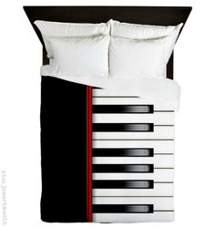 Piano Keyboard Queen Duvet by CowpieCreek - CafePress Dream Music, Music Love, Music Is Life, Music Crafts, Music Decor, Piano Crafts, Music Furniture, Music Bedroom, Music Items