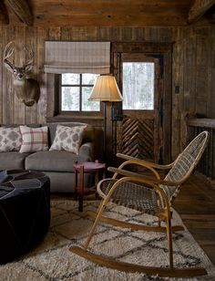 COZY CABIN: Interior by Charles deLisle. 11/29/2011 via Desire to Inspire