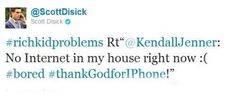 When he called out Kendall for dumb tweeting. | 16 Times Scott Disick Totally Owned The Kardashians