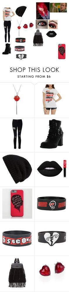 """SPN Outfit #13"" by giacozz ❤ liked on Polyvore featuring Simone I. Smith, Miss Selfridge, Betani, Rick Owens, Lime Crime, Glamorous and Adriana Orsini"