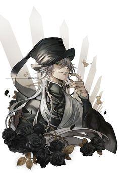 The Undertaker Black Butler Black Butler Undertaker, Black Butler 3, Black Butler Anime, Film Anime, Manga Anime, Anime Art, Manga Girl, Shinigami, Fanarts Anime