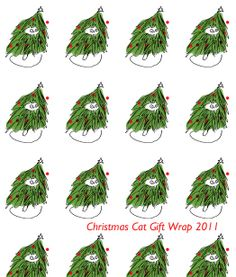 Christmas Cat Gift Wrap Holiday Wrapping Paper 1 by jamieshelman, $28.00