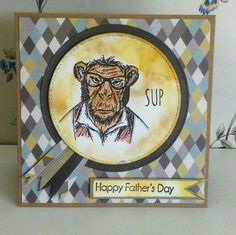 Tim Holts Hipster stamp Fathers Day card by Claire's Craft Boutique