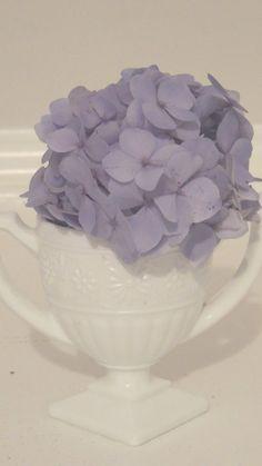 Vintage White Daisy Milk Glass Loving Cup by LeBrunDesignsInc