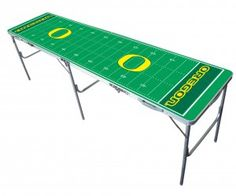 NCAA Oregon Ducks 8ft Tailgate Table @Wendy Hawley this would be an awesome beer pong table