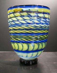Cobalt Glass Vase by KatzGlassDesign