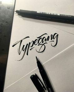 Follow us @typegang | typegang.com #typegang #typography #handtype #graphicdesign #typeface #handlettering #customtype #lettering #design #font #handmade #art #arte